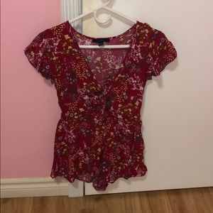 Floral romper from F21